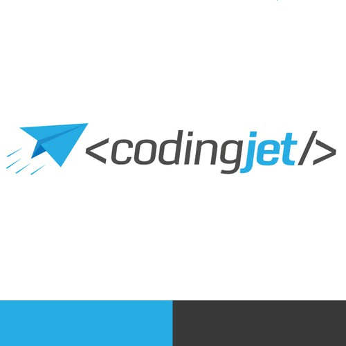 Fun logo design for Coding Jet
