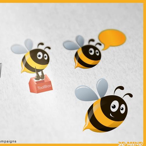 Create a bee mascot for Portalbuzz ad campaigns