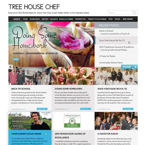 Lead Chef's Blog Site Homepage