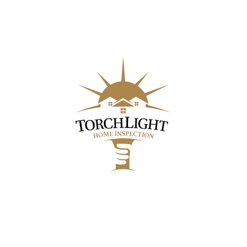Negative space logo for Torch Light Home Inspection