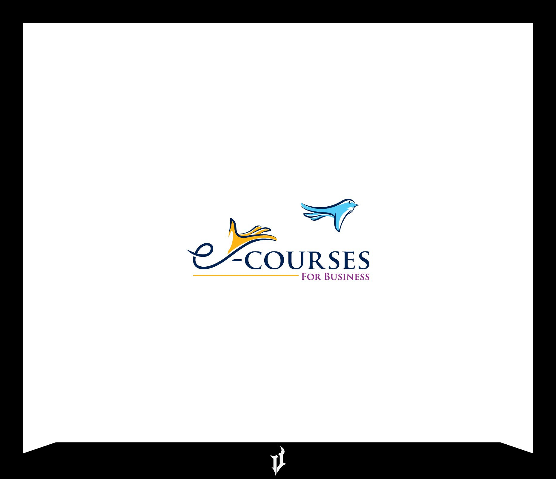 Create a quirky yet professional logo for a business selling e-courses to enhance people's lives by upgrading their skil