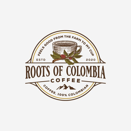 Logo concept for a coffee brand