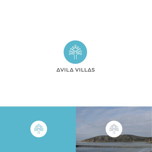 modern logo for a lake shore villa