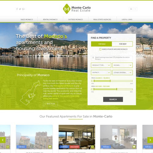 Monte-Carlo Real Estate - Homepage