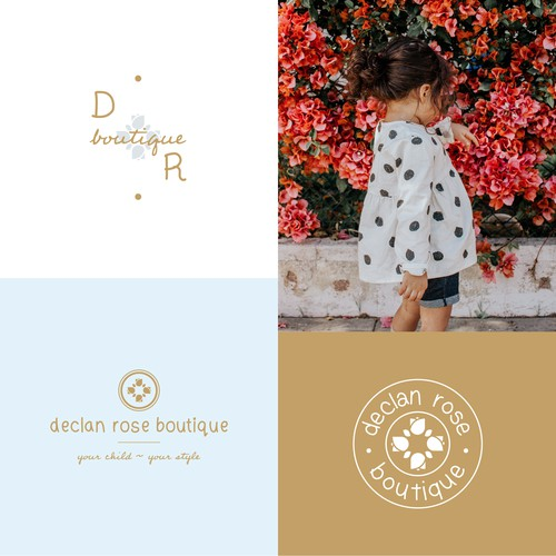 Luxury Children's Clothing Boutique Logo Design