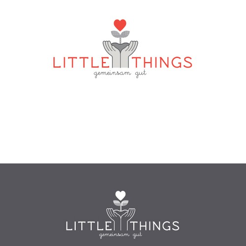 logo for a local charity shop - calmingly simple, with a hint of hope and care for fellow humans