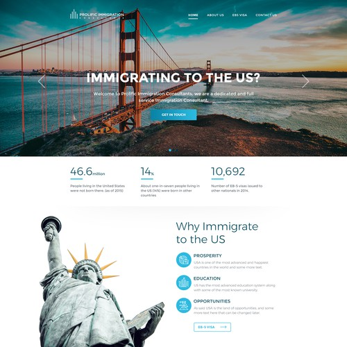 Design for Prolific Immigration Consultants