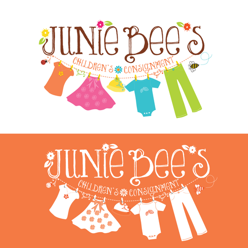 Please help Junie Bee's start our business with a fun logo!