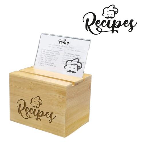 design for wooden recipe box