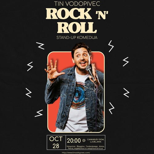 Tin Vodopivec Comedy Poster
