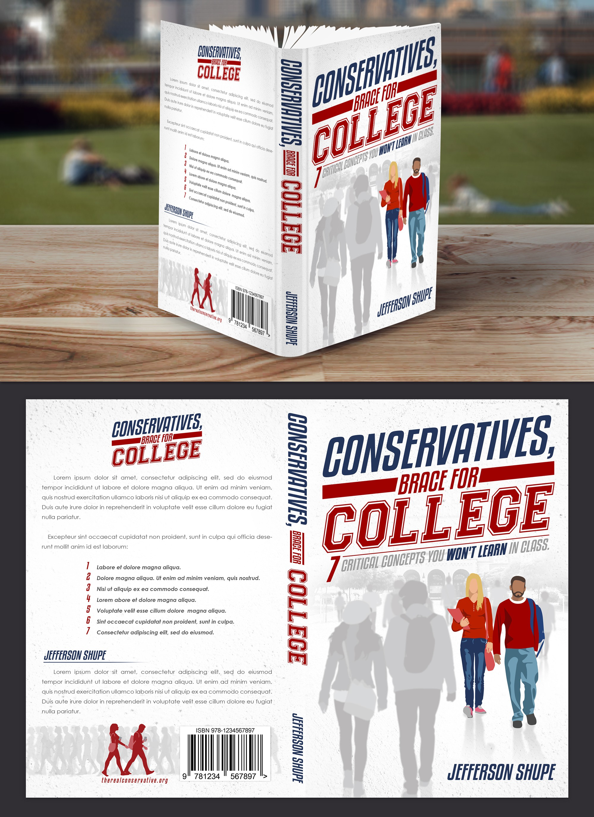 Design an engaging young adult political book cover, first in its class