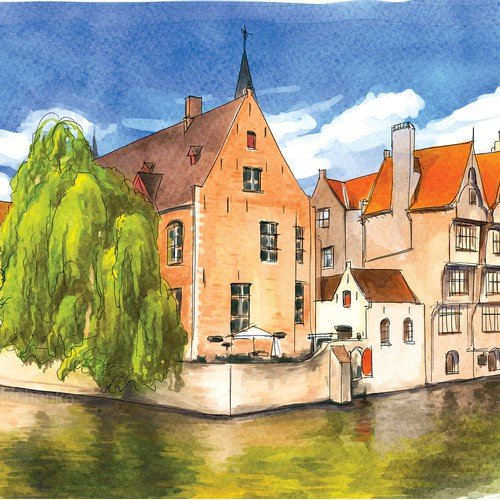 Illustration in Urban Sketching style