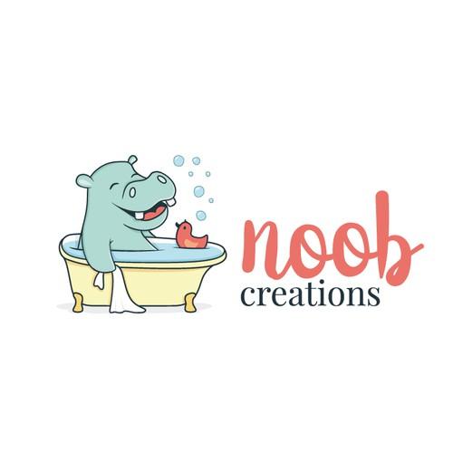 Hippo character/ logo