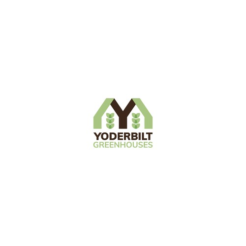 Old school bold logo for greenhouse company