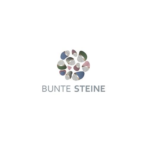 """Logo Design """"Bunte Steine"""""""