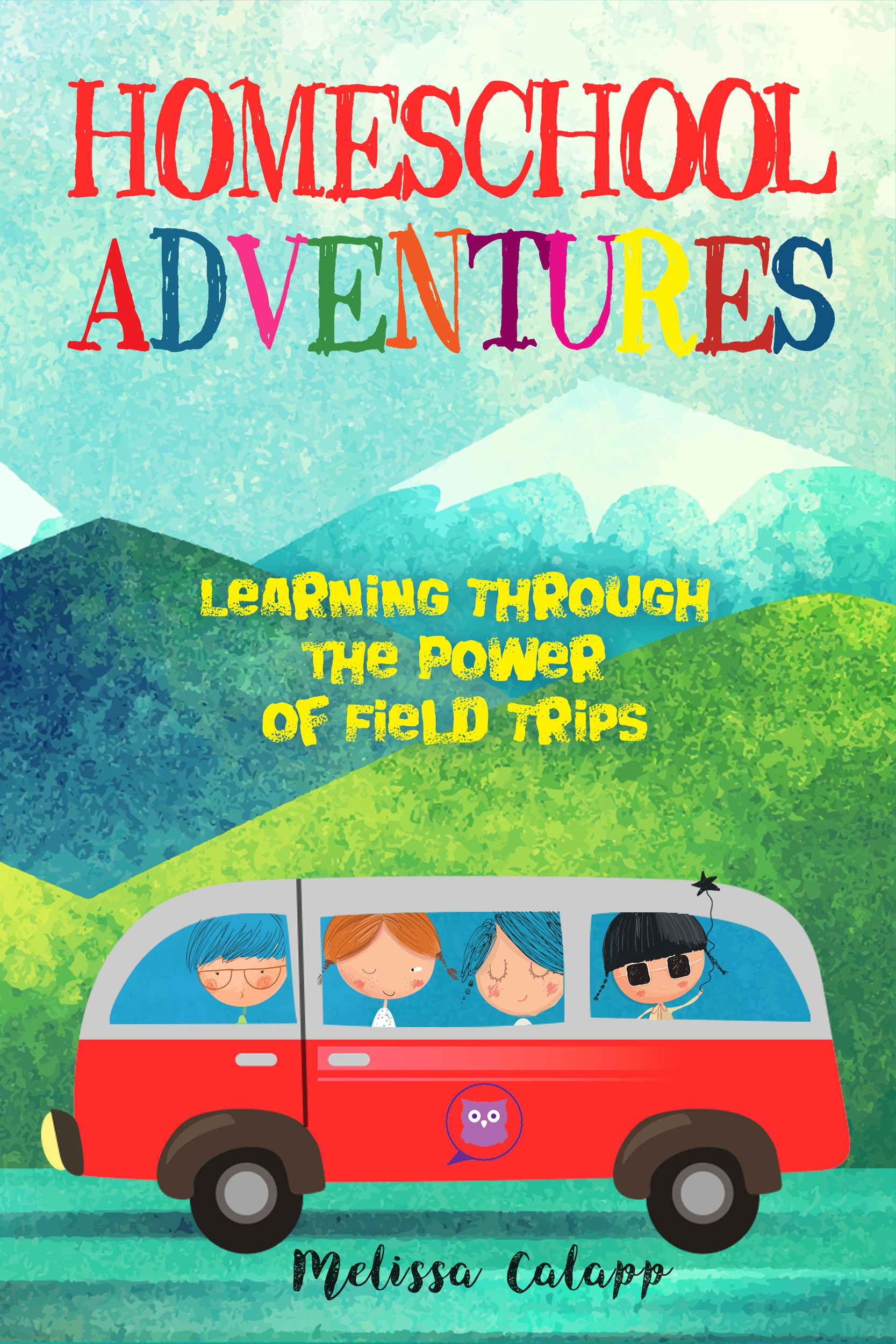 Design a book cover filled with adventures.