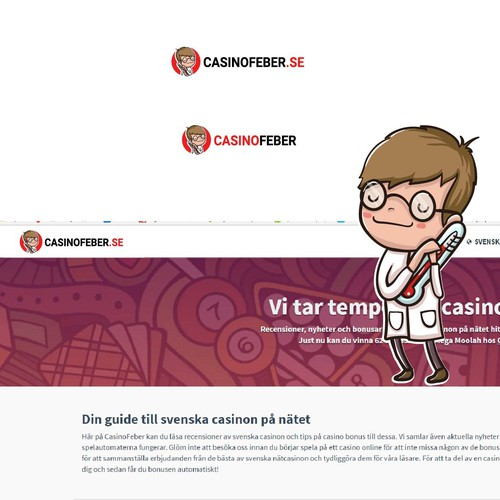 CasinoFeber needs a logo and a funky mascot!