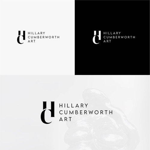 "Logo concept for ""Hillary Cumberworth Art"""