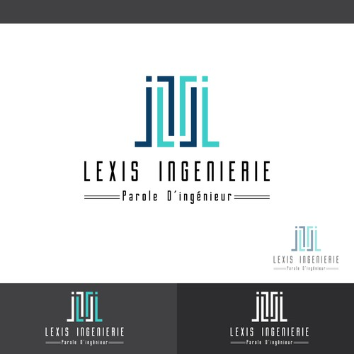 Concept logo designed for Lexis Ingeniearia
