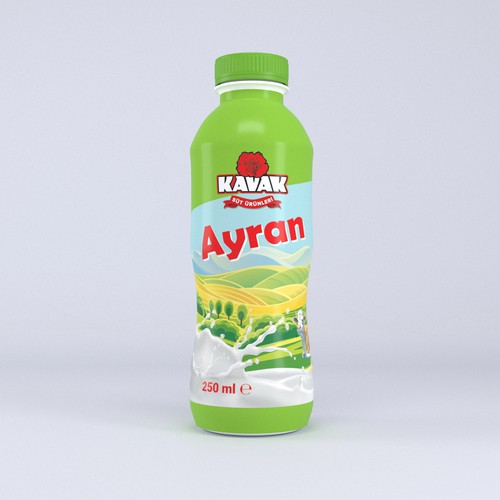 Full body label for Turkish-style drink