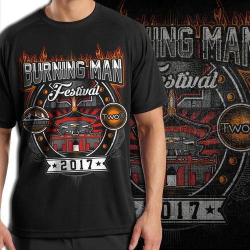 Burning Man festival vendor shirt
