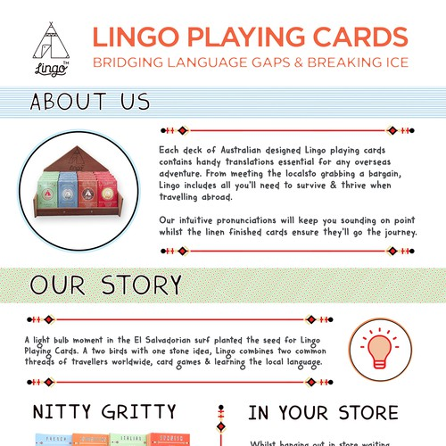 Lingo Playing cards Flyer