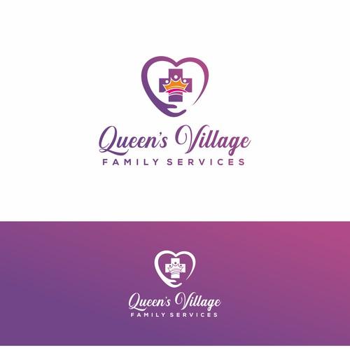 Queen's Village Family Services Logo Design