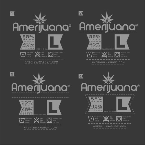 label for amerijuana t-shirt
