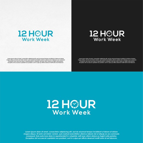 Logo Concept for 12 Hour Work Week