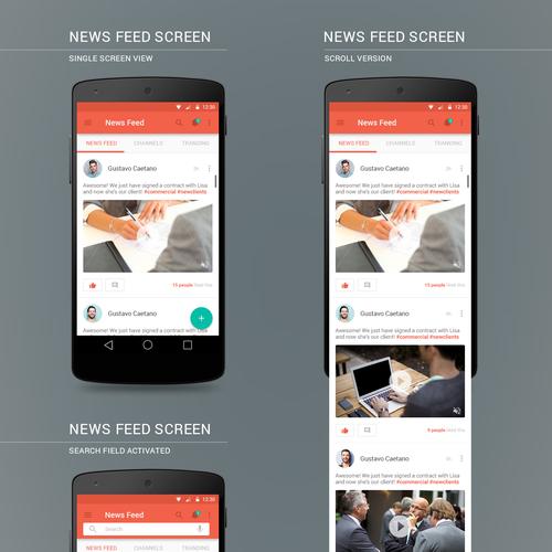 Andriod App UI Design