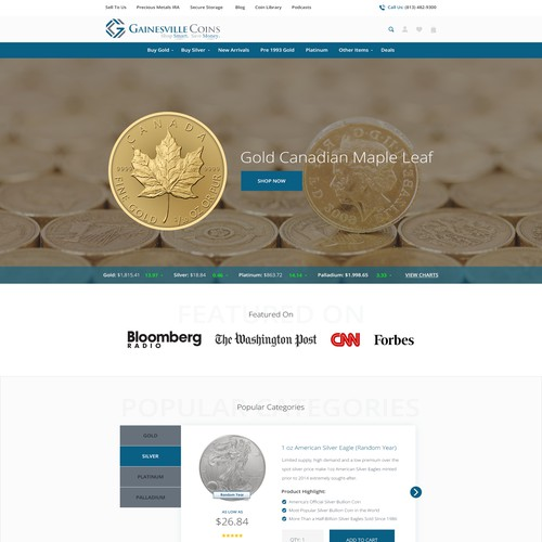 Create a Fun and Exciting Landing Page For a Gold Company