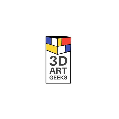 3d art geeks logo