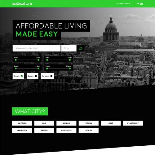Web Concept for Apartment Website