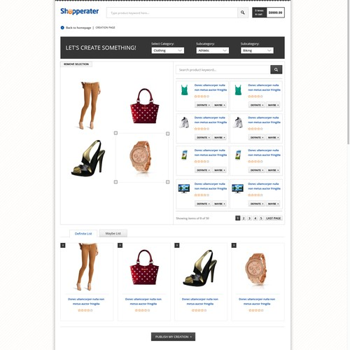 Shopperater needs a new website design
