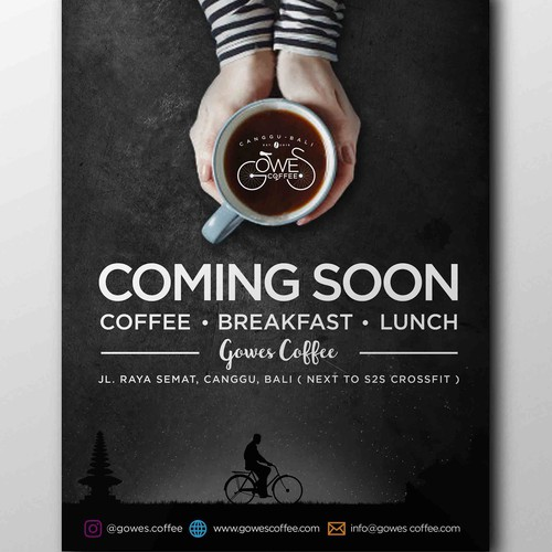 Poster design for gowes coffee shop in Canggu, Bali.