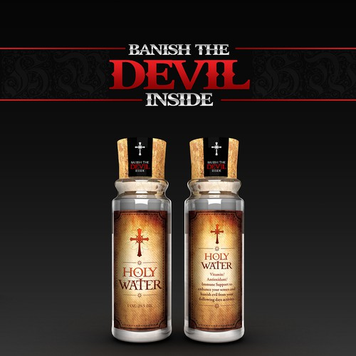 Help Holy Water with a new product label