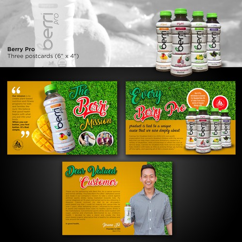 Health Drink Postcard