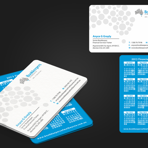 logo and business card for Bookkeepers of Melbourne