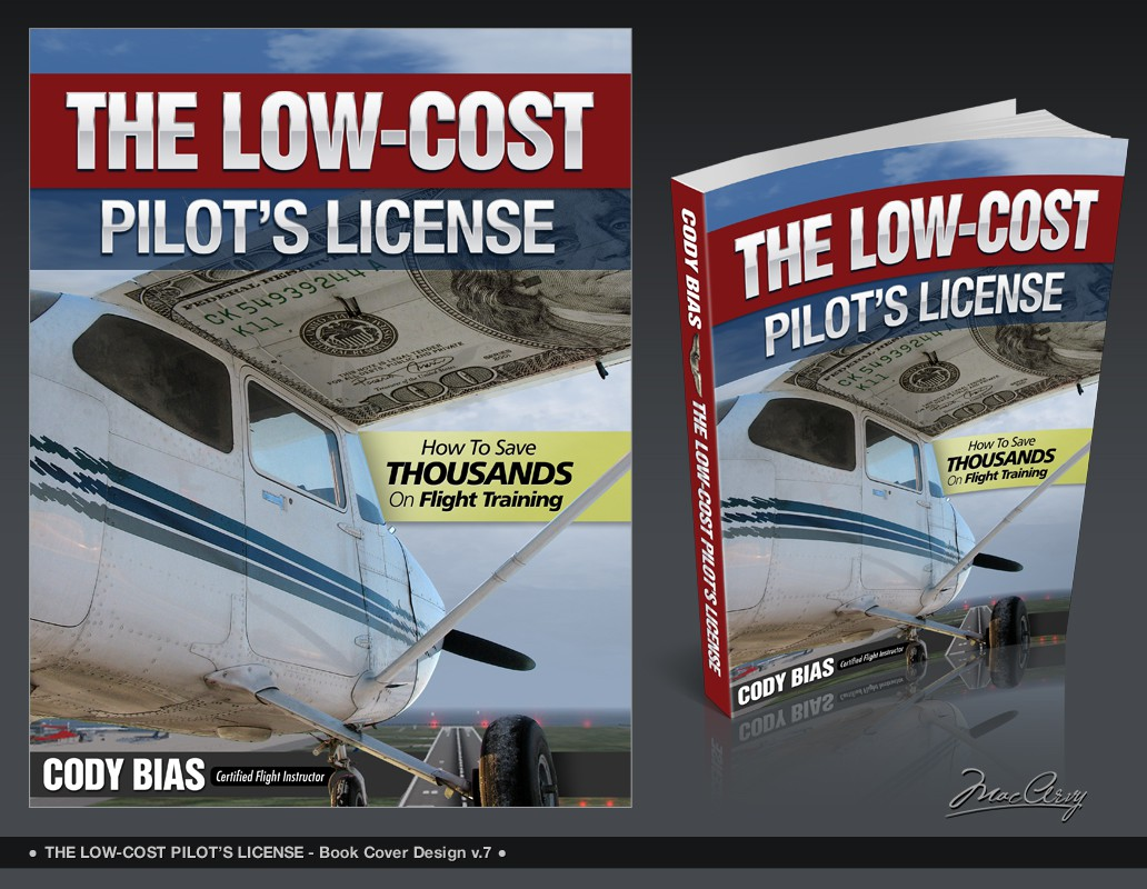 """Create an eBook cover for """"The Low-cost Pilot's License"""""""