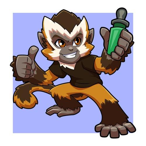 Monkey Mascot Design