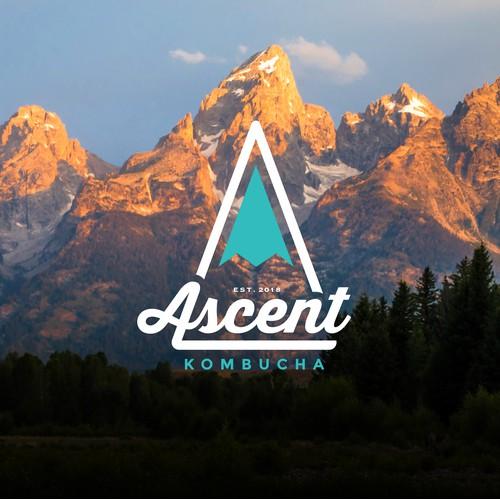 Logo for Ascent Kombucha brewery. Check them out: www.ascentkombucha.com