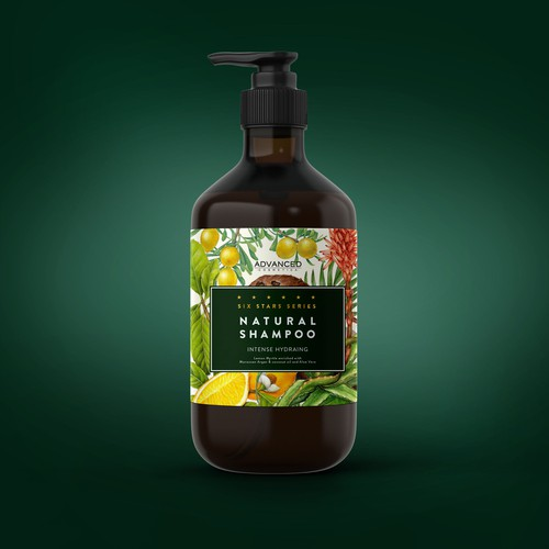 botanical shampoo label