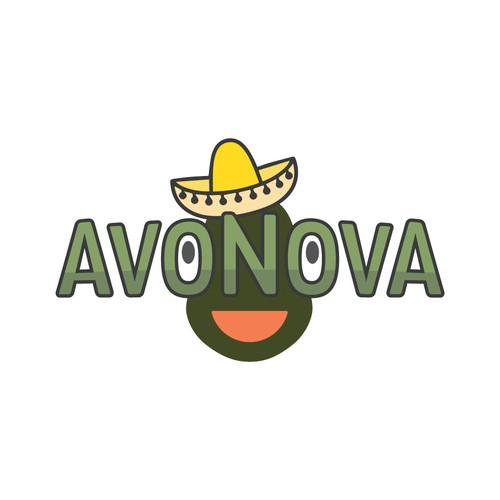 Hipster Logo for Avocado Fruit Stickers
