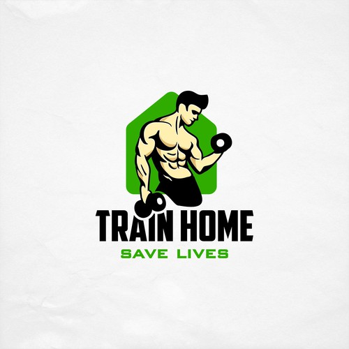 home fitness logo design