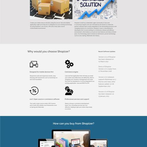 E commerce we page Design
