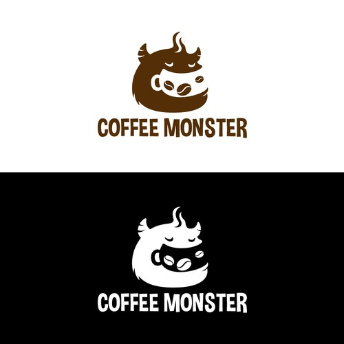 Coffee Monster logo by Junoteam