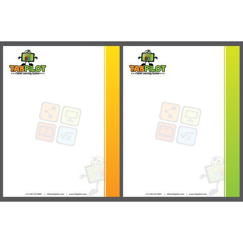 Create stationery for TabPilot Tablet Learning System