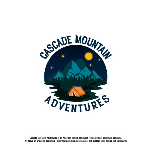 Fun Logo design for an outdoor camping enthusiast