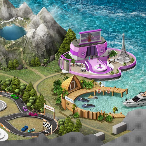 Adventure game - Level map concept