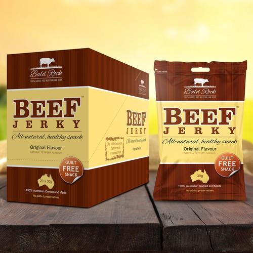 Bald Rock Beef Jerky Packaging